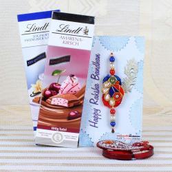 Lindt Chocolates with Traditional Rakhi