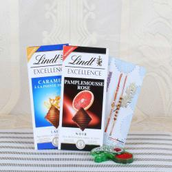 Lindt Excellence Chocolates with Two Stunning Rakhi Collection-USA