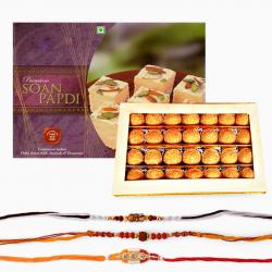 Loose Rakhi and Sweets Combo