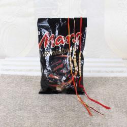 Mars Miniature Chocolate Pack with Three Rakhis
