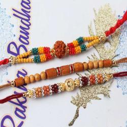 Marvellous Designer Set of Three Rakhi