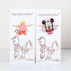 Mickey with Bal Ganesha Rakhi for Kids-Worldwide
