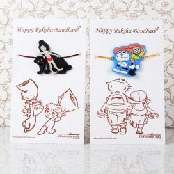 Mowgli with Nobita Doraemon Rakhi for Kids