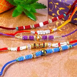 Multi Color Pearl Beads Rakhi