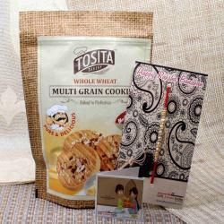 Multi Grain Cookies with Pearl Rakhi