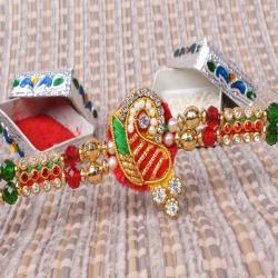 Multicolor Zardosi Design Rakhi
