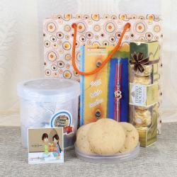 Nankhatai Cookies with Ferrero Rocher and Rakhi