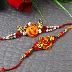 Om and Ganesha Rakhis