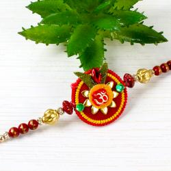 Om Floral and Beads Rakhi