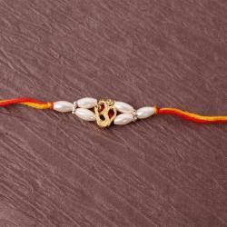 Om Pearl Beads Rakhi