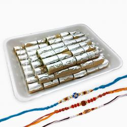 One Kg Kaju Rolls with Three Rakhi