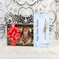 Only Chocolates Box with Designer Rakhi