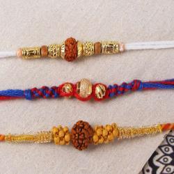 Pack of Three Striking Rakhi Set