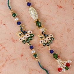 Peacock Design Bhaiya Bhabhi Rakhi
