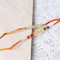Pearl Beads Rakhi Set of Two