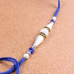 Pearl Rhinestone Beads Rakhi