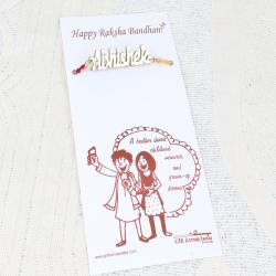 Personalized Rakhi Thread with Brother Name
