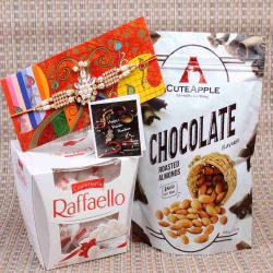 Raffaello and Roasted Almonds Chocolate with Kundan Rakhi
