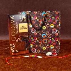 Rakhi and Godiva Chocolatier in Hazelnut Milk Chocolate