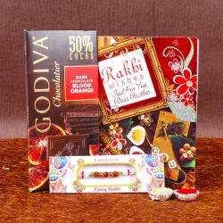 Rakhi and Godiva Chocolatier in Orange Dark Chocolate