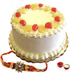 Rakhi and Pineapple Cake Combo