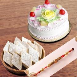 Rakhi Cake with Kaju Katli