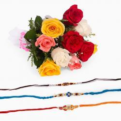 Rakhi Combo with Mix Roses