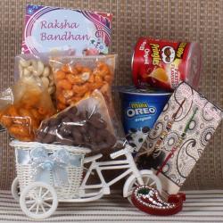 Rakhi Cycle Basket Dry fruits Chocolates