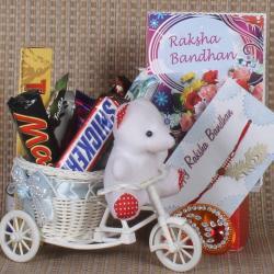 Rakhi Cycle Full of Chocolates