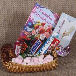 Rakhi Designer Basket of Imported Chocolates