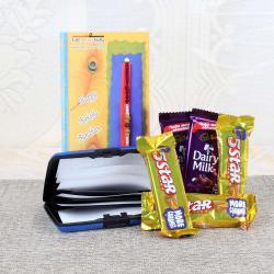 Rakhi Gift of Cadbury Dairy Milk with Five Star Chocolate Bars
