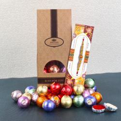Rakhi Gift of Center Filled of Chocolate Balls