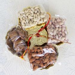 Rakhi Gift of Dry fruit in Tray