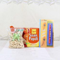 Rakhi Gift of Soan Papdi with Cashew