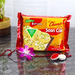 Rakhi Gift with Soan Cake