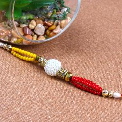 Rakhi of Colorful Small Beads