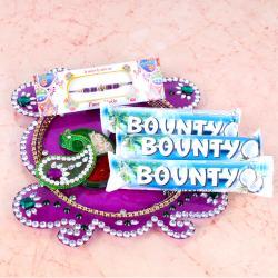 Rakhi Thali with Bounty Chocolates Treat