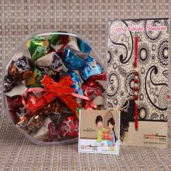 Rakhi with 200 GM Assorted Truffle Box