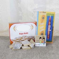 Rakhi with 200 Gm Kaju Katli