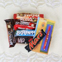 Rakhi with Assorted Imported Chocolates for Brother