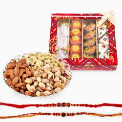 Rakhi with Dryfruits and Assorted Sweets