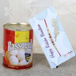 Rakhi with One Kg Rasgulla