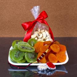 Raksha Bandhan Dryfruit Pack with Rakhi