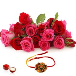 Roses Bouquet with Rakhi