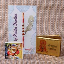 Rudraksha Rakhi with Hanuman Chalisa
