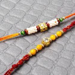 Beads and Dimond Work On Rakhi Threads