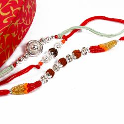 Set of 3 Silver Sparkling  Rakhi