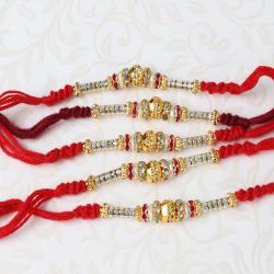 Set of Five Charming Designer Rakhi
