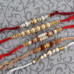 Set of Five Glossy Rakhi