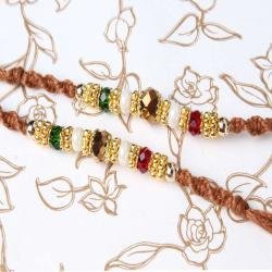 Set of Two Fancy Beads Rakhi